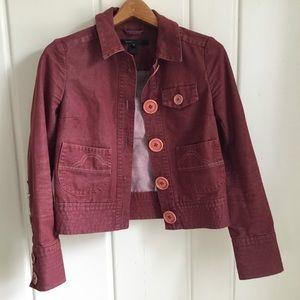 Vintage-style Marc Jacobs Red Denim Jacket